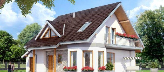 Proiect de casa mica parter si mansarda case din lemn cu for Arhitectura case cu mansarda