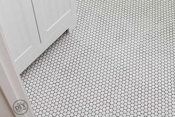 Diy White Penny Tile Tutorial How To - Bathroom Makeover