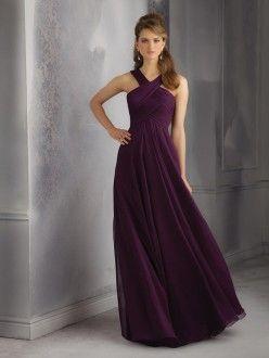 Sheath/Column Sleeveless Halter Chiffon Ruched Floor-Length Dresses