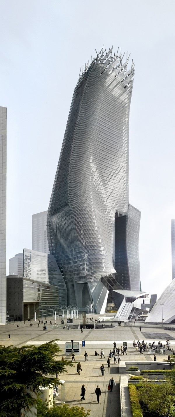 Phare Tower in Paris by Morphosis Architects :: 71 floors, height 300m