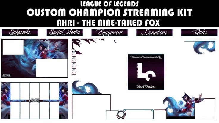 Lot of new additions planned for 2018! Excited to share the latest addition to my #etsy shop: Custom League of Legends Champion Streaming Kit - Ahri: The Nine-Tailed Fox http://etsy.me/2CAban2 #geekery #stream #overlay #kit #leagueoflegends #ahri #fox #gaming #esports