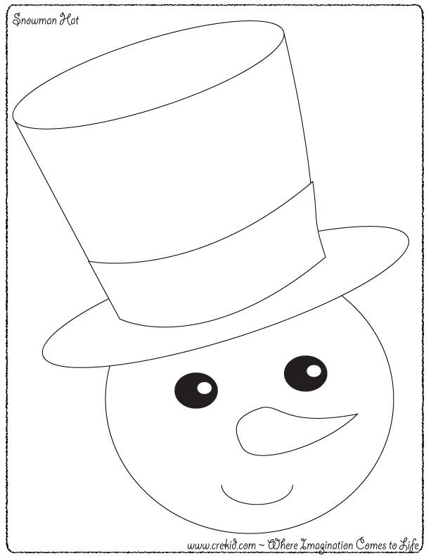 Act it Out ~ Snowman Hat ~ Dramatic Play ~ Act Out a Story
