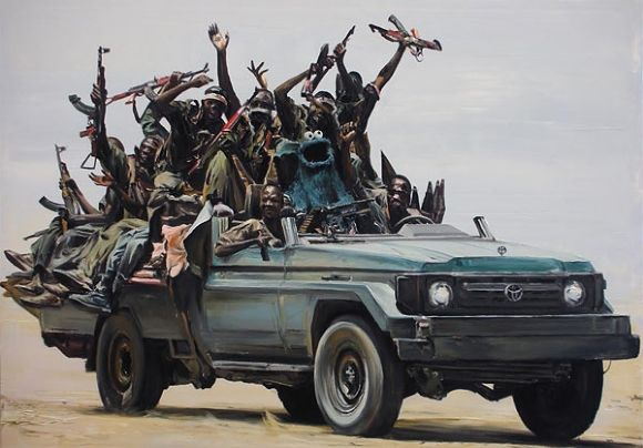 Toyota War - Chadian soldiers use Toyota trucks to maintain mobility over Libyan armor and aircraft