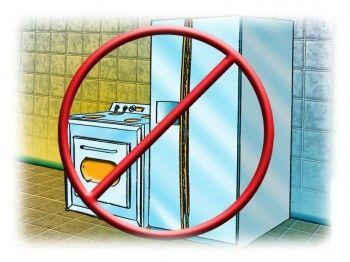 Evite dejar juntos el emento fuego y el elemento agua en la cocina