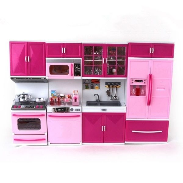 Barbie Doll Kitchen Set Play And Cooking Kitchen Sets Barbie Dolls Cooking Toys