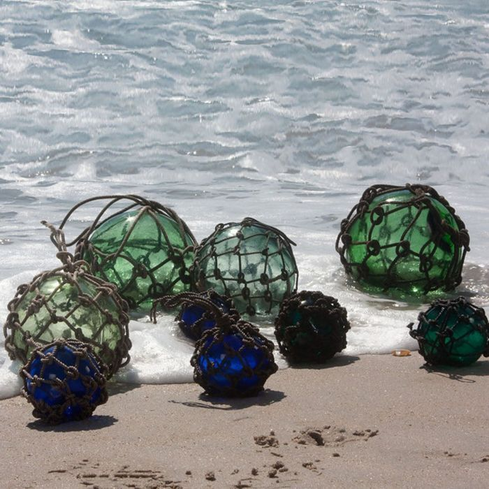 My sister works in Misawa, Japan and finds these wonderful glass fishing balls washed ashore often.