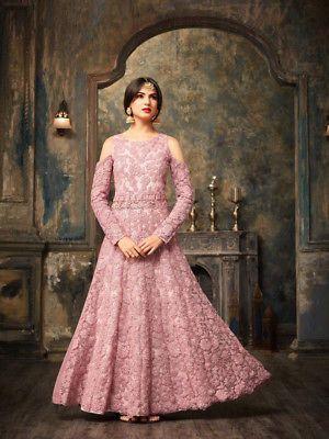 6526c637d7 India Pakistan Ethnic Wear Anarkali Design Fashion Net Wedding Wear Dress  Purple