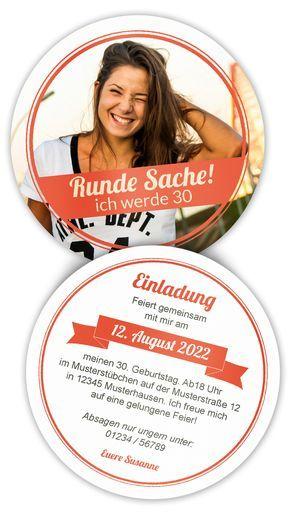 Printed Beer Coasters Round – Birthday. Exceptional Birthday Invitation …