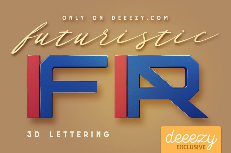 Futuristic 3D Lettering | Deeezy - Freebies with Extended License