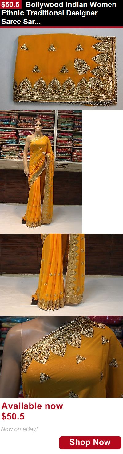 Cultural and ethnic clothing: Bollywood Indian Women Ethnic Traditional Designer Saree Sari Bridal Party Dress BUY IT NOW ONLY: $50.5