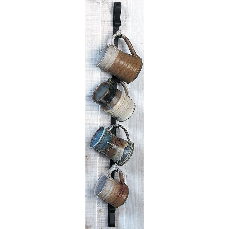 Metal Wall Mounted Mug Rack Vertical Mug Rack Coffee