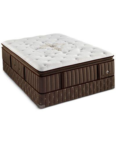 Stearns & Foster Longfeather Latex Plush Euro Pillowtop King Mattress Set