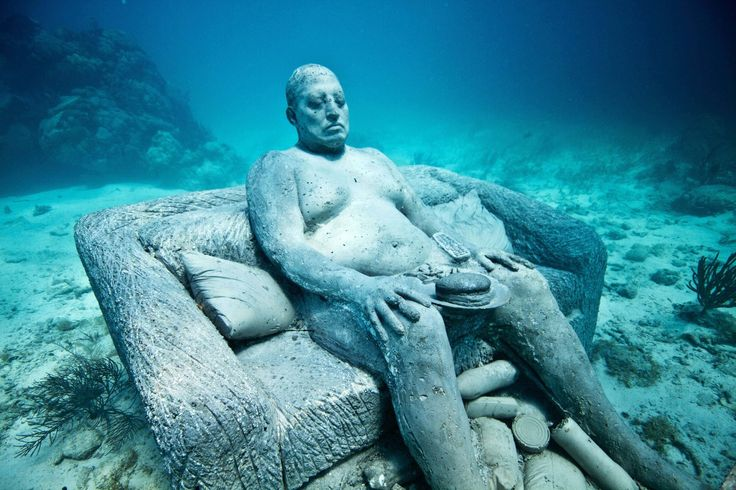 From submerged saints to Greek gods, these are the world's most amazing underwater sculptures.  9/21/15