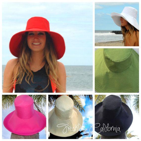 Aangepaste Sun Hat Selecteer kleur brede rand Sun Hat voor kleine - grote hoofden door sproeten Californië