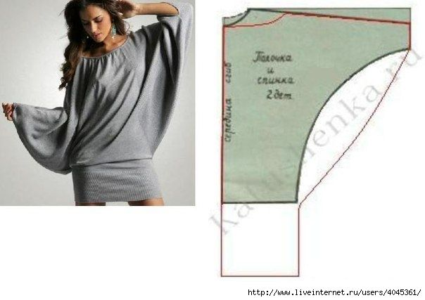 batwing dress inspiration... maybe not to much bat-wing but more tapered - still slouchy