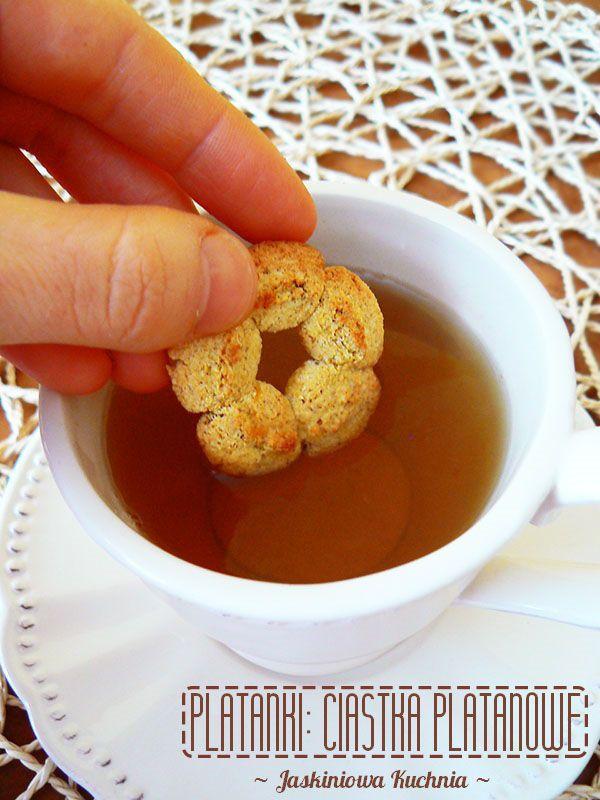Platanki: Szybkie ciasteczka platanowe (bez cukru, oczywiście) | Jaskiniowa Kuchnia