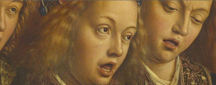 LARGE SIZE PAINTINGS: Jan and Hubert VAN EYCK L'Agneau Mystique (The Ghent Altarpiece), details 1432