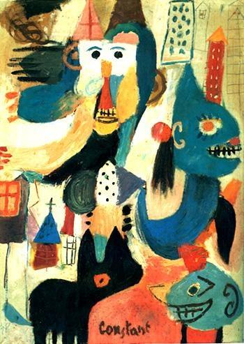 Nieuwenhuys, Constant (1920-2005) Maskierte Ungehorsamkeit Date: 1948