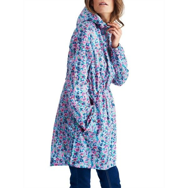 Joules Right as Rain Golightly Pack Away Waterproof Parka ($63) ❤ liked on Polyvore featuring outerwear, coats, joules coats, waterproof coat, hooded coat, hooded parka and toggle coats