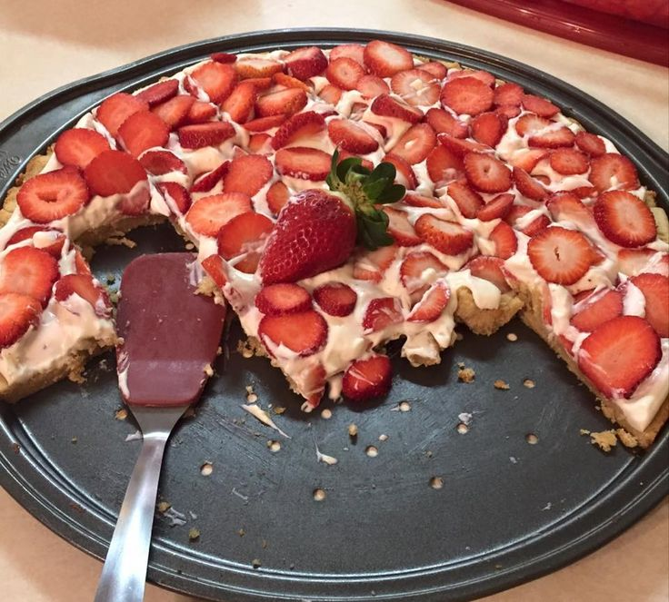 Strawberry Pizza...  Crust- Almond flour, about 4 cups, 1 stick butter, 1 egg, 1/2 tsp baking soda, 1/2 tsp baking powder, 1 1/2 tsp vanilla, your choice of plan approved sweetener to taste. (The dough should be the consistency and taste of sugar cookies.) Bake at 350 for 7 min.  Filling- 2 pkgs cream cheese, softened, 3/4 cup heavy cream, 1 tsp vanilla, plan approved sweetener to taste. Whip until creamy.  Let crust cool completely, spread filling on top, top with strawberries, ENJOY!