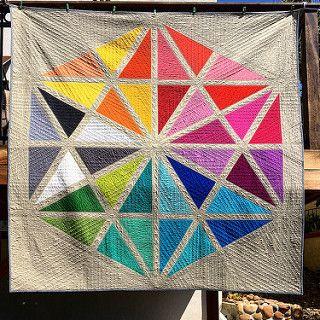 Giant Prismatic Medallion quilt | by SKquiltlab