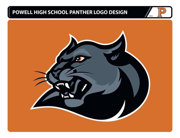 Powell High School Panther Logo Design