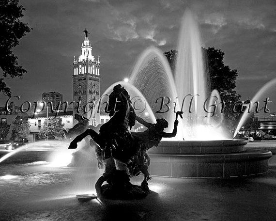 Kansas city country club plaza 8x10 fine art photograph 5x7 8x10 11x14 16x20 24x30