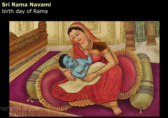 Rama was born on the Navami tithi of Shukla Paksha of Chaitra masa (9th day of the increasing phase of the moon in the lunar month of Chaitra). At that time, the Nakshatra or star was Punarvasu and Sun, Mars, Saturn, Jupiter and Venus were in Aries, Capricorn, Libra, Cancer and Pisces respectively. The Lagna was Cancer and Jupiter and moon were shining together.