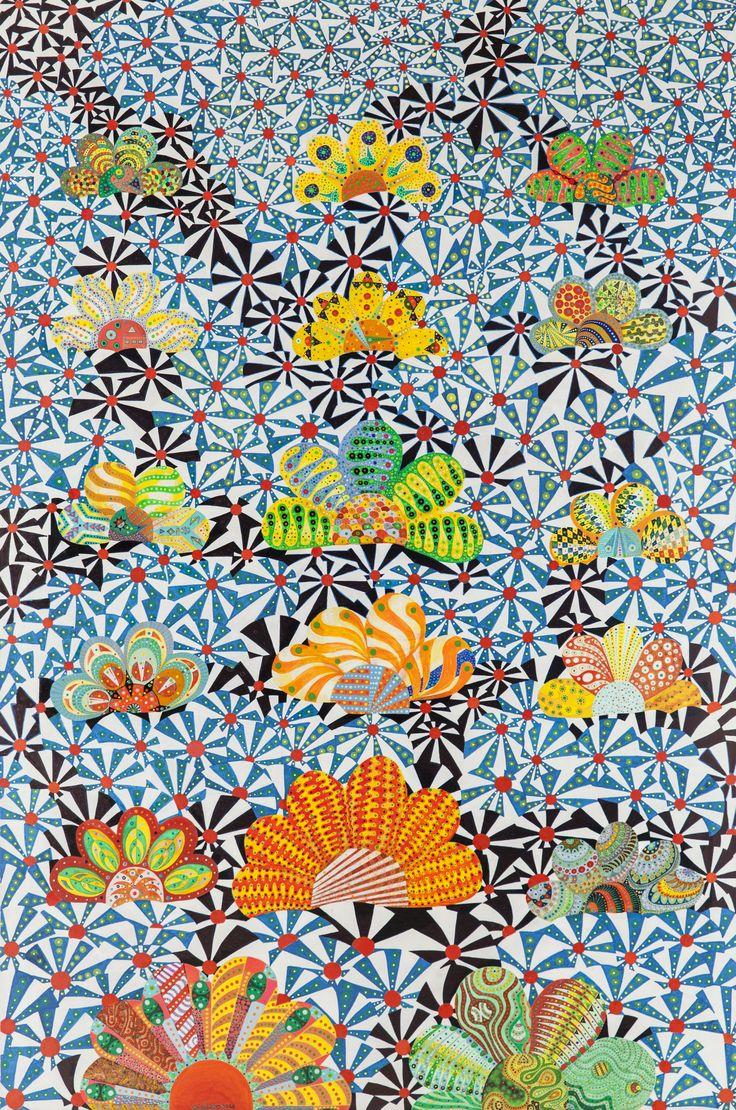 Titolo- Campo di fiori. Tecnica mista su tela. mis. 100x150