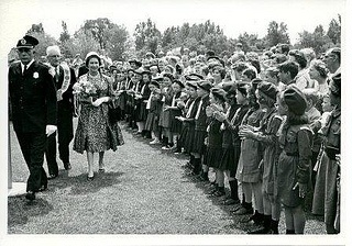 Queen Elizabeth and Guides by Girl Guides of Canada, via Flickr