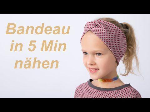 DIY Stirnband Bandeau Haarband Nähen für Anfänger Nähanleitung – YouTube   – Nähen