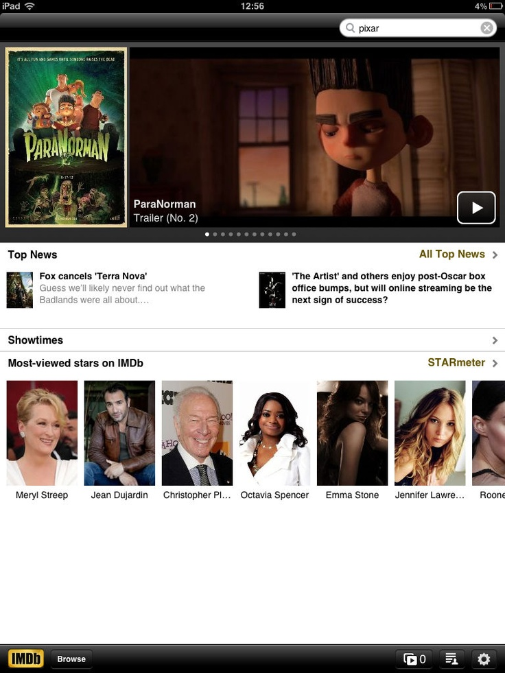 IMDB Movies & TV App for iPad - Clickable Demo