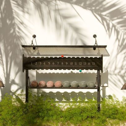 Bocce Ball Court Design Ideas, Pictures, Remodel, and Decor - page 11, Bocce ball holder