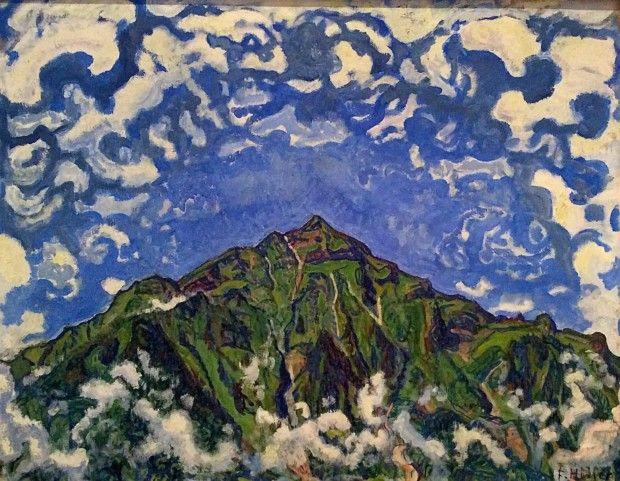 Ferdinand Hodler Mount Niesen Seen from Heustrich, 1910