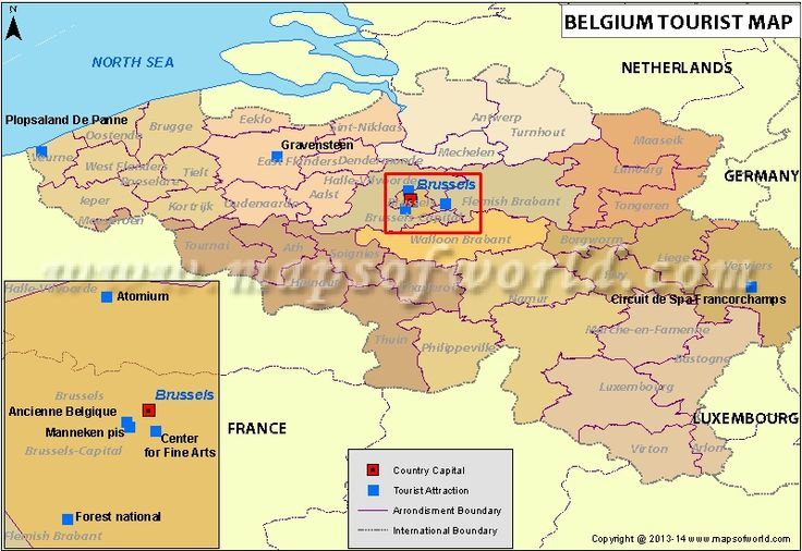 Belgium Tourist Attractions Map