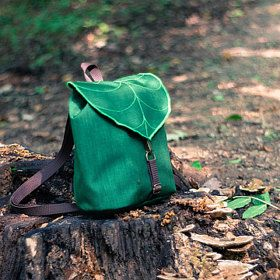 Handmade Backpacks Leaf Bike Messengers Hip Bags di LeaflingBags