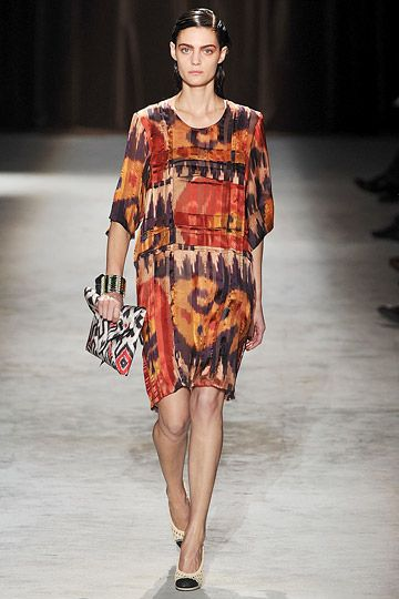 ikat on the runway, Dries van Noten 2010 RTW
