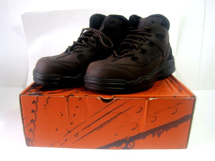 Red Wing Worx Style 6556 Work Boots Mens Steel Toe Size 9.5 Brown #RedWing #WorkSafety