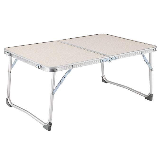 Moroly Small Laptop Table For Bed Foldable Lapdesk Portable Aluminium Lightweight Desk For Bed Couch And S Laptop Table For Bed Small Laptop Table Laptop Table