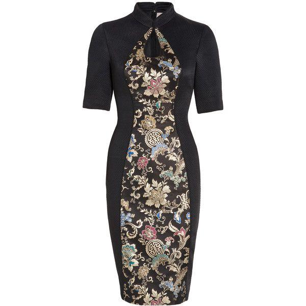 JASON WU Keyhole Brocade Dress (€765) ❤ liked on Polyvore featuring dresses, cocktail dresses, jason wu, brocade dress, jason wu dresses and quilted dress