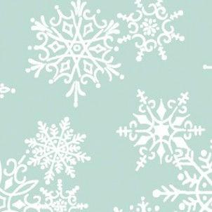 Benartex - Aqua Snowflakes cotton fabric