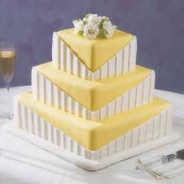 Pretty, but simple cake that would be perfect for a bridal shower.