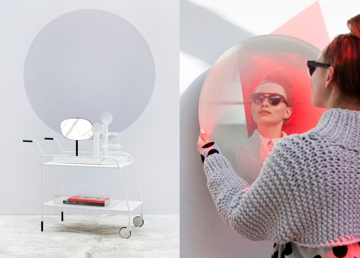 In interior trend Urban Astronaut by Perscentrum Wonen the futuristic look is softened with round shapes.