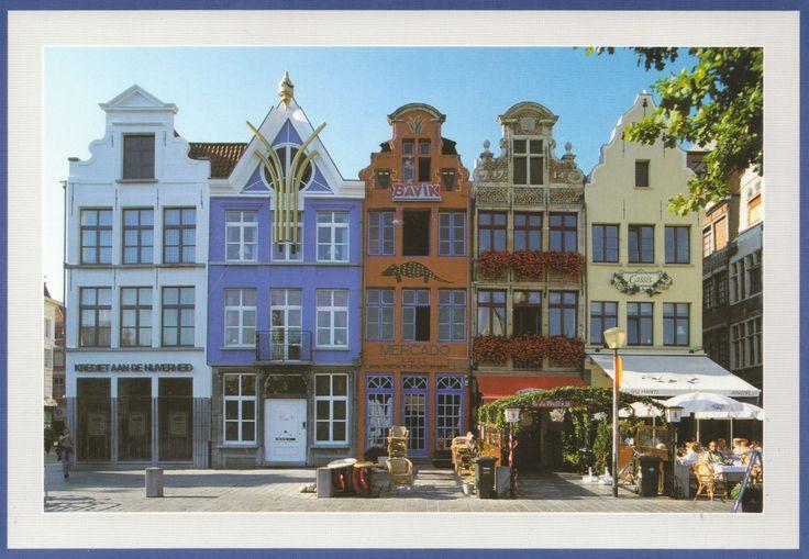 Vrijdagmarkt - Marché du vendredi - Carte reçue de Belgique - Distance: 672 km (418 miles) - Travel time: 8 days