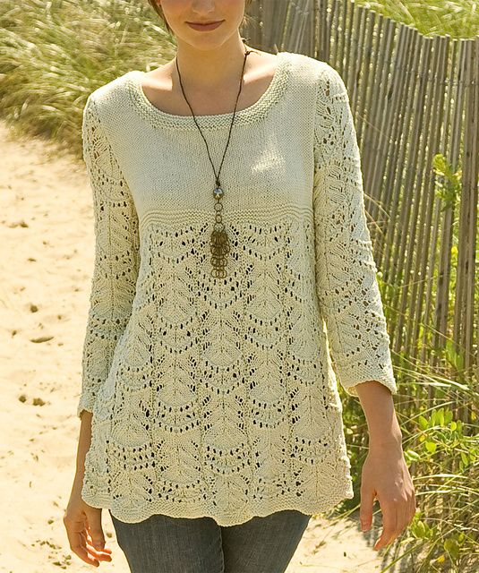 Ravelry: Wavy Lace Tunic pattern by Gayle Bunn @ http://www.ravelry.com/patterns/library/wavy-lace-tunic