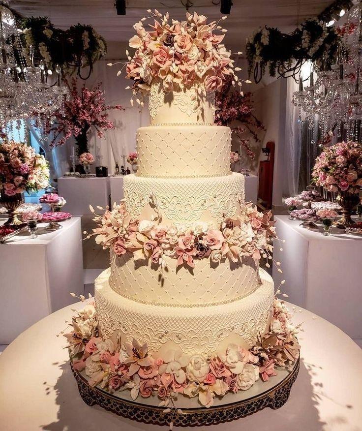 55 Einfache, elegante, schicke Hochzeitstorten   – Wedding Cakes