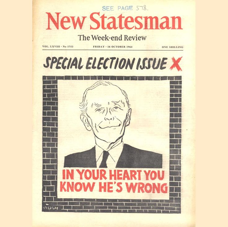 The New Statesman Election Issue, October 1964 (Sir Alec Douglas Home)
