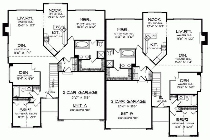 17 best ideas about duplex plans on pinterest duplex for 3400 square feet house plan