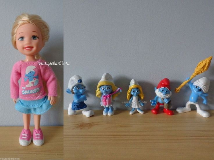 Barbie Kelly Doll Kelly Club Smurf & Smurfs Figures Friends Lot Collectibles  #Mattel #DollswithClothingAccessories