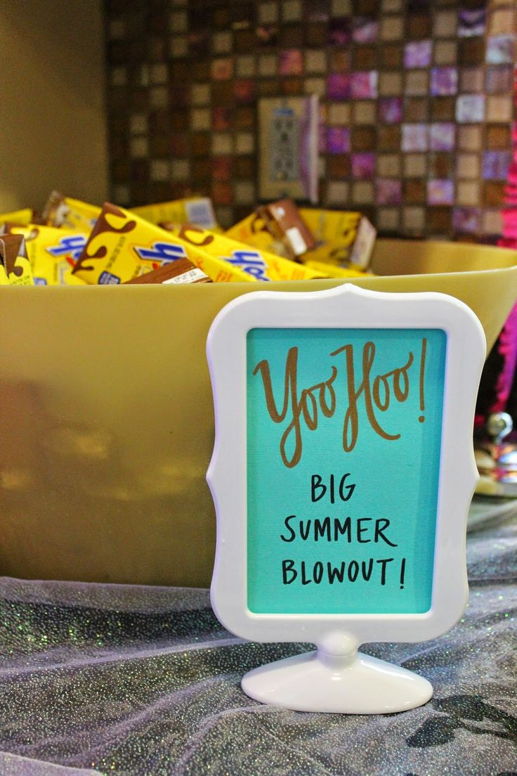 Frozen Inspired birthday party.  Frozen quotes/signs by Outside The Bloom and Daisy Dreaming.  Yoo Hoo Big Summer Blowout!